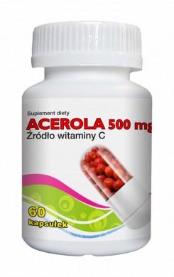 Acerola 500mg     60 kapsułek